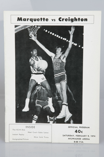 February 9, 1974 vs. Creighton